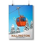 INNOGLEN Killington Ski Resort, Vermont A0 A1 A2 A3 A4 Satin Photo Poster p10333h