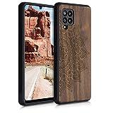 kwmobile Carcasa Compatible con Samsung Galaxy A42 5G - Funda de Madera de Nogal Sol Naciente...