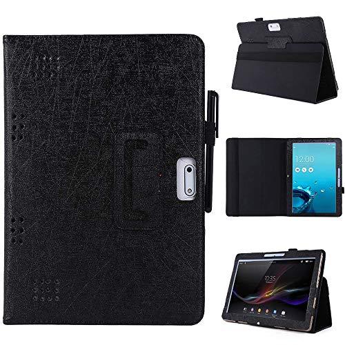 KATUMO Tablet 10 Universal Hülle für YOTOPT 10/ Yuntab 3G 10.1/ Lectrus 10.1/ Touch K10/ TYD 10/ TOSCIDO/Lnmbbs 10.1 Schutzhülle Leather PU Cover, Schwarz