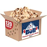 ValueBull Cow Ears, Varied Sizes/Shapes, 120 Count - All Natural Dog Treats, 100% Angus Beef, Single Ingredient Rawhide Alternative, Fully Digestible, Cleans Teeth & Gums