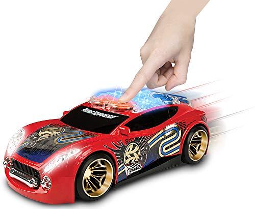 Nikko – Road Rippers Street Beatz – Motorisiertes Spielzeug Auto mit Licht und Sound – Wheelie Auto für Kinder – Rot