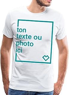 Spreadshirt Créez Votre Propre T-Shirt Personnalisé avec Texte ou Photo Imprimée T-Shirt Premium Homme