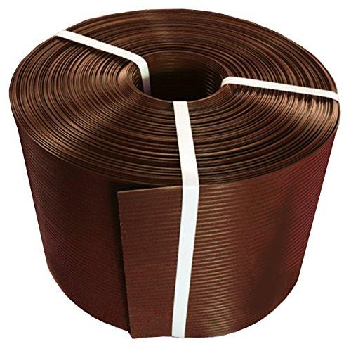 Thermoplast® ZAUNSICHTSCHUTZSTREIFEN, Sichtschutzblende, 19cm x 26m = 4,94m2, Braun (RAL 8011), 5 Jahre Garantie