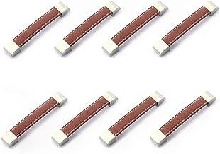 8 stks Meubels Hardware Trekt Kast Lade Handvat Deur Kast Handvatten Garderobe Knoppen Keuken Metalen Lederen Handvat Pull...