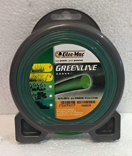 Hilo para desbrozadora Oleo-Mac Greenline, 31 m x 4 mm, redondo