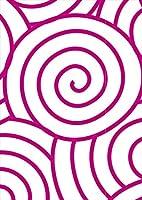 igsticker ポスター ウォールステッカー シール式ステッカー 飾り 1030×1456㎜ B0 写真 フォト 壁 インテリア おしゃれ 剥がせる wall sticker poster 003729 チェック・ボーダー 和風 和柄 紫