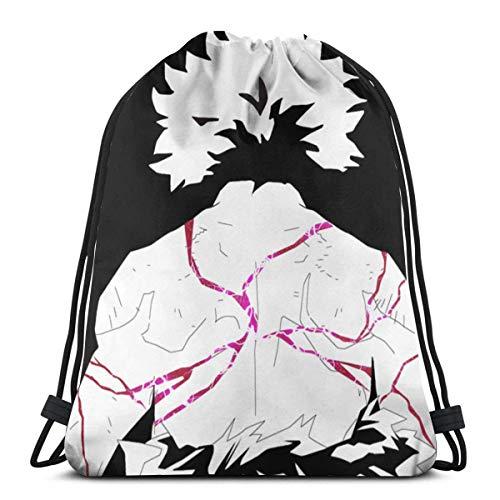 WH-CLA Drawstring Backpack Held Academia Izuku Midoriya Ulrta Anime Fitness Outdoor-Geschenk Kordelzug Rucksack Sport Cinch Taschen Fitnessstudio Einzigartige Männer Yoga Print Frauen Ko