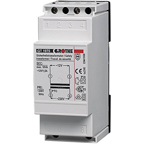 Grothe 1512019 – Bell AC Courant Transformateur 12 V, 1,5 A, 1975 GT