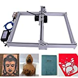 DIY CNC Engraver Kits Wood Carving Engraving Cutting Machine Desktop Printer Logo Picture Marking, 40x50cm,2 Axis (2500MW)