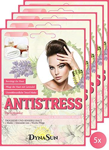 DynaSun Kit 5x Antistress Mask BTS mit Lavendel und Brassica Oleracea Extrakt Intensiv Feuchtigkeitsspende und Ausgleichende Maske Kpop für Feuchtigkeitsbedürftige Haut