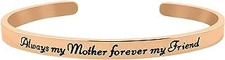 GLAM `Always My Mother Forever My Friend`` Sentimental Message Cuff Bracelet