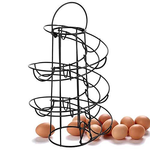 Wghz Metal Egg Skelter Rack Cestas De Huevo Dispensador De Skelter De Huevo Rack Display Storage Rack Soporte De Huevo Soporte Diseño Espiral Estante De Almacenamiento De Huevo