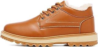 Jancerkmou Hommes Bottes de Neige d'hiver Bottes Chaudes en Peluche Bottines Chaussures de Travail Bottes de Neige décontr...