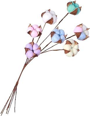 LIOOBO Ramas de Flores secas de algodón de Colores, Ramas Florales ...