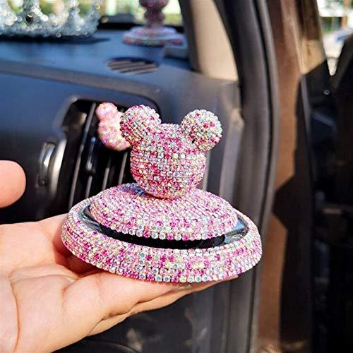 Verfrissende drank in de auto met comic-wekker en styling-dranken, verfrissende kristallen lucht, decoratie voor dames, parfum accessoires. Een
