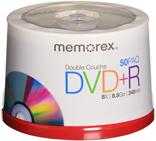 Memorex 85 GB 8 X Double Layer DVDR  50 Pack Spindle
