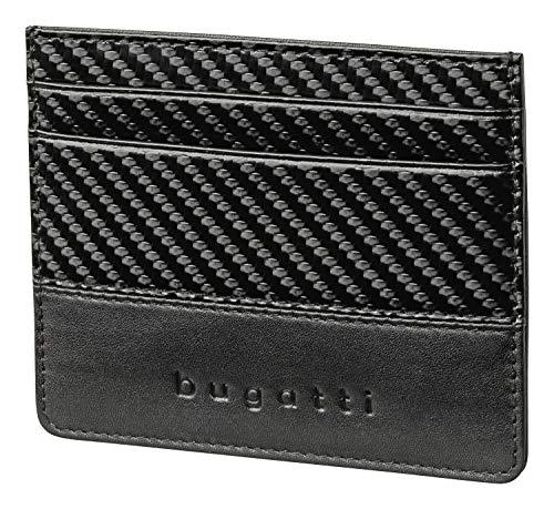 Bugatti Comet Porte Carte Bancaire, Portefeuille Homme 5CC Cuir, Portefeuilles Hommes - Noir