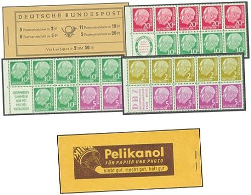 Goldhahn BRD Markenheft Nr. 2b Heuss 1955 Pelikanol für Papier und Photo Briefmarken für Sammler