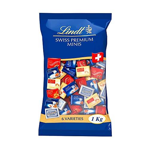 Lindt Napolitains Mini Schokoladentafeln, Großpackung, 1 kg (inkl. Milch, Weiß, Nuss)