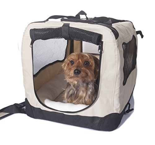 2PET Folding Soft Dog Crate for indoor, travel, training for pets up...