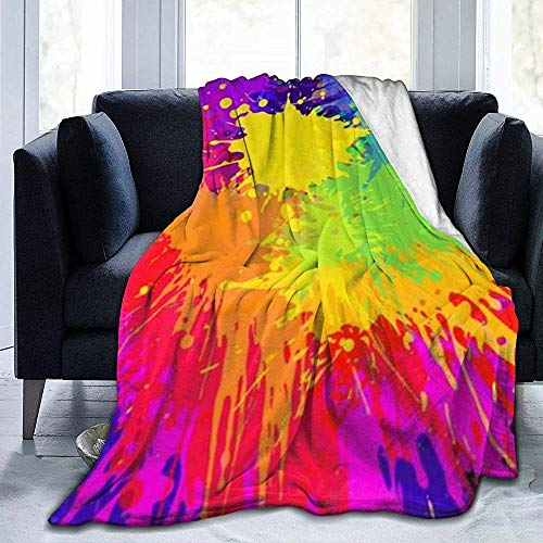 Wobuzhidaoshamingzi Color Splash Ultra Soft Fleece Blanket flanel Velvet Plush Throw
