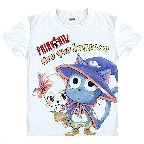 Fairy Tail T-Shirt Kostüm Cosplay Weiß