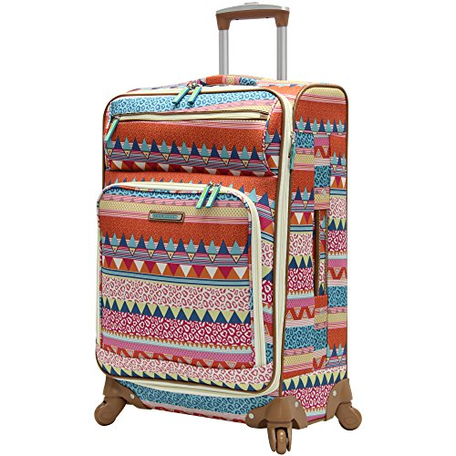Lily Bloom Midsize 24' Expandable Design Pattern Luggage With Spinner Wheels (24in, On the Prowl)