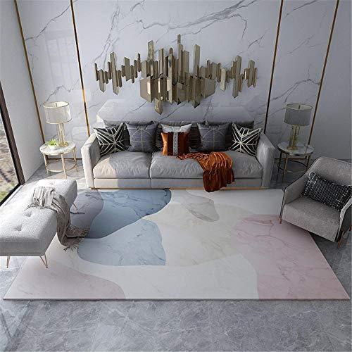 Alfombra Salon alfombras Exterior terraza Sala de Estar Cristal Velvet Alfombra Blanco Rosa Suave Puede ser Pulido alfombras a Medida Online 50x80cm 1ft 7.7' X2ft 7.5'