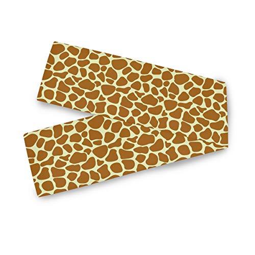 TropicalLife F17 - Camino de mesa rectangular, diseño de jirafa con estampado de animales, 33 x 177 cm, poliéster, decoración para bodas, cocina, fiestas, banquetes, comedores, mesas de café