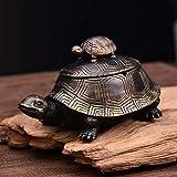 Kreative Harz Doppel Schildkröte Aschenbecher Persönlichkeit Trend mit Deckel Multifunktions Aschenbecher Hause Wohnzimmer Couchtisch Retro chinesischen Ornamenten Dekoration