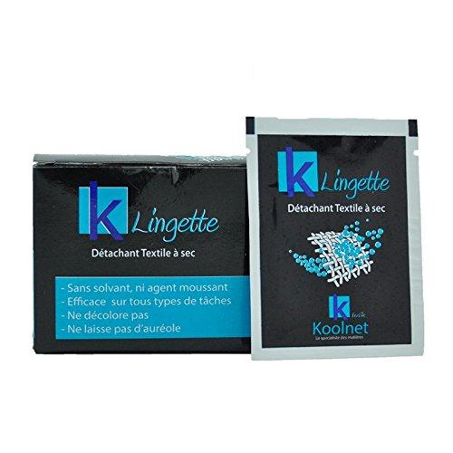 Koolnet Lingettes détachantes (x20) Lingette nettoyante pour les vêtements prête à l'emploi. Sous blisters individuels