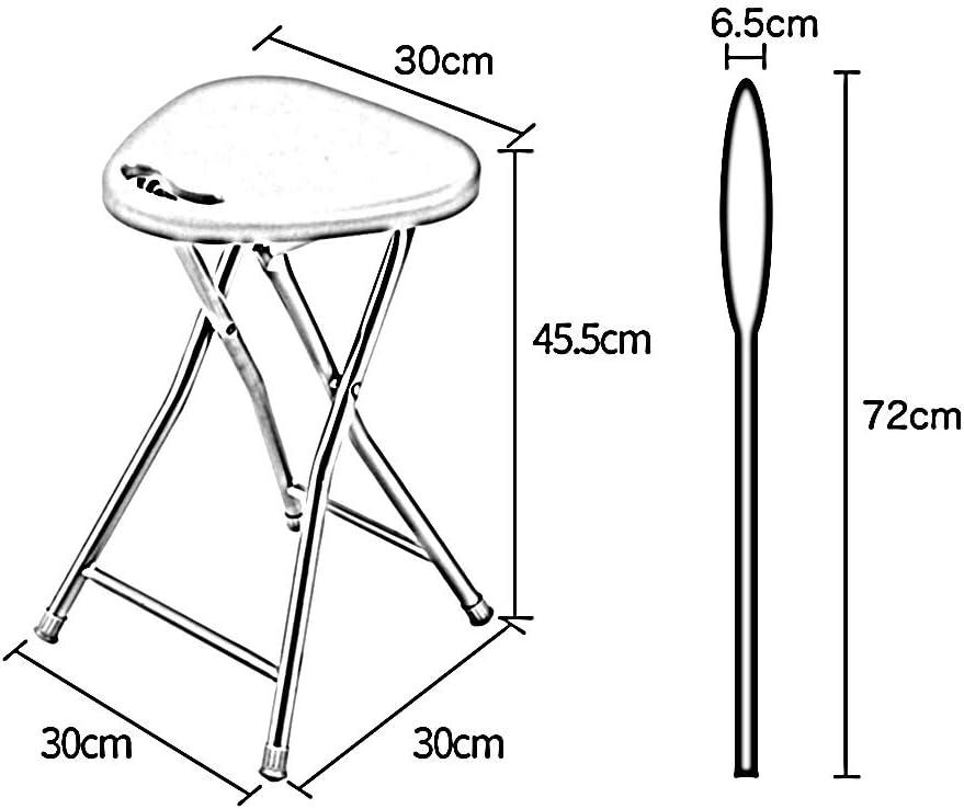 YQQ-Tabouret Tabouret Pliant Tabourets De Camping En Plein Air Tabouret Pliant Chaise Portable Chaise Tabouret Légère Bureau De Cuisine Maison & Jardin 30x30x45,5 Cm (Color : B) C