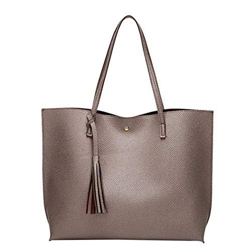 UKKO Handtasche Frauen Softleder Handtaschen-Frauen-Schulter-Beutel Shopper Bucket Bag Mode Damenhandtaschen,B