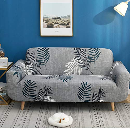 WINS Fundas para Sofa elasticas 4 plazas Funda para Sillon Protector Sofa Cubre sillones Sofas Fundas Sofa Chaise Longue Gris