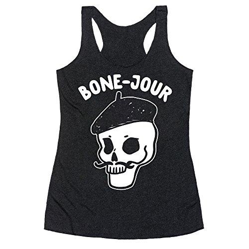 LookHUMAN Bone-Jour XL Heathered Black Women