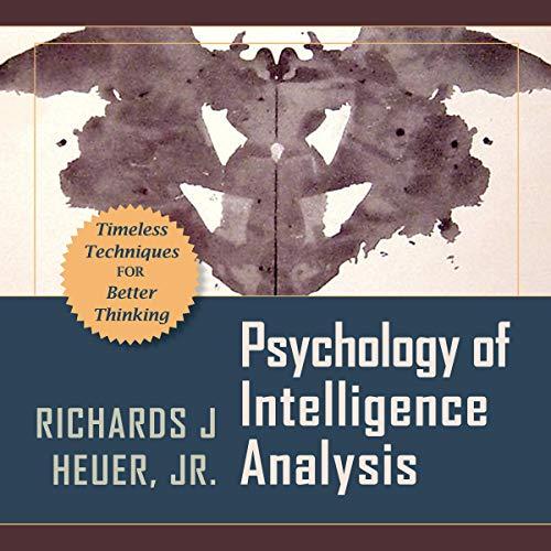 『Psychology of Intelligence Analysis』のカバーアート