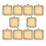 EXCEART 10 Pezzi di Legno Mini Cornici per Foto Ornamenti Appesi Cornice in Legno per Foto Ornamenti in Legno Non Finiti per La Decorazione Domestica Ornamento