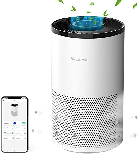 Proscenic A8 Air Purifier for Home with True HEPA Filter, APP Control, Alexa &...