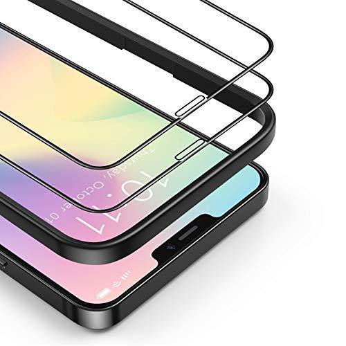 BANNIO Protector de Pantalla Compatible con iPhone 12 Mini,[2 Unidades] 3D Cristal...