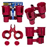 ROBOCUP, RED, Updated Version,Best Cup Holder for Drinks, Fishing Rod/Pole, Boat, Beach Chair/Golf Cart/Wheelchair/Walker/Drum Sticks/Microphone Stand