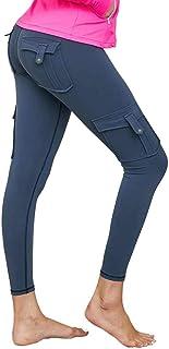 Nuofengkudu Damen High Waist Sporthose Leggings mit Taschen