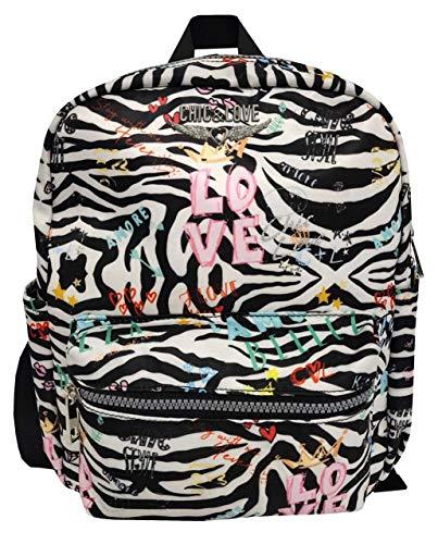 CYP BRANDS Mochila Fashion de Chic & Love Zebra' Mochila Tipo Casual, 40 cm, 22 litros, Multicolor