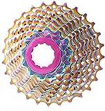 XLAHD Fahrrad Freilauf, FH 9/10 Geschwindigkeit Regenbogen Ultraleicht Freilauf 11-28T Rennrad Kassette Schwungrad Fahrräder Freilauf Upgrade Ersatz MDFL Rennrad Kassette Kettenrad