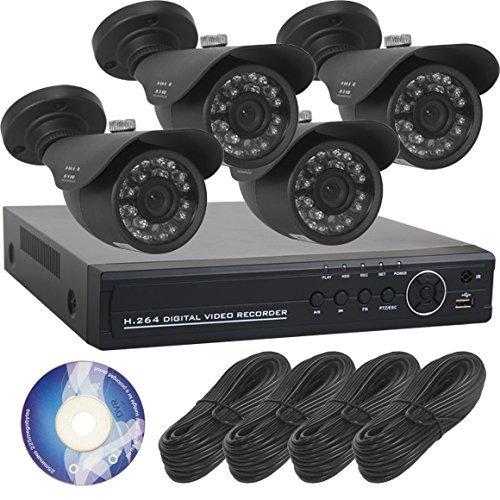 【SKY Electronics】防犯カメラ 屋外 録画 4台セット [3年保証] 高画質 赤外線 監視カメラ スマホ PC 遠隔監視 SET-A101g