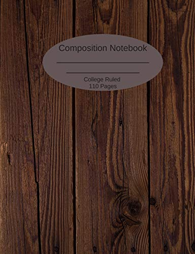 Composition Notebook: College Ruled 100 Pages (55 sheets) Wood Panel