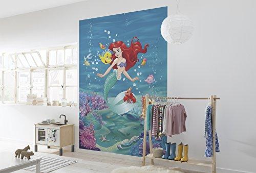 Komar - Disney - fotobehang ARIEL SINGING - 184x254cm - behang, muurdecoratie, Arielle, prinses, zeemeermin, kinderkamer - 4-4020
