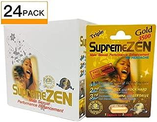 SupremeZen Gold 3500 Sexual Performance Enhancement Pill + Keychain Capsule Holder (Supreme Zen - 24 Pack)
