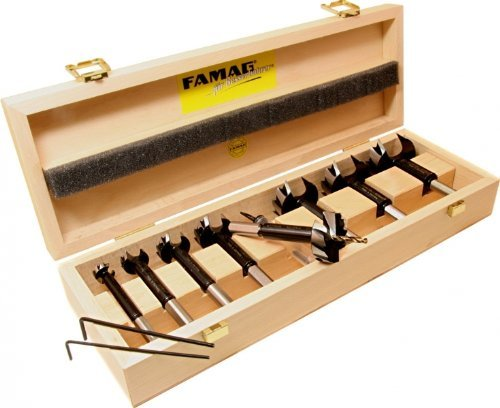 FAMAG Bormax 2.0 prima Staketenbohrersatz 8-teilig WS D=15,20,25,30,35,40,45,50mm im Holzkasten