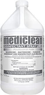 Mediclean Disinfectant Spray Plus Fragrance Free, Professional Broad Spectrum Disinfectant for Mold, Mildew, Kills Organisms That Cause Odor, 1-Gal