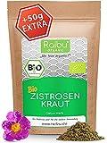 Raibu® Zistrosenkraut Bio 250g + 50g extra - Zistrose für Zistrosentee in Bio Qualität - Vorratspackung an Cistrose - Zitrosenkraut
